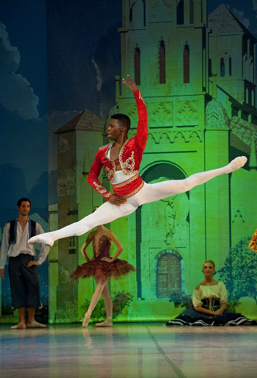 Brooklyn Mack from The Washington Ballet danced as Basilio in SA Mzansi Ballet's Don Quixote