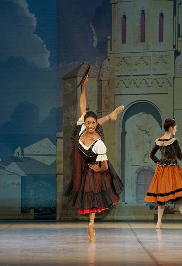 Cuban dancer, Claudia Monja, performing as Mercedes in SAMB's production of Don Quixote.
