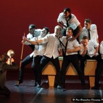 The men of Bovim Ballet in 'A little less conversation'.
