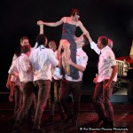 Faye Dubinski (Juliet) together with the men of Bovim Ballet in 'One Night'.