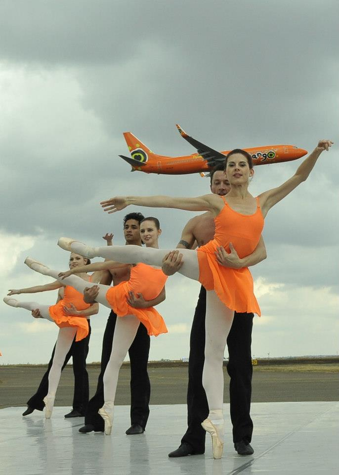 SA Mzansi Ballet and Mango airline's Jet Duet collaboration.