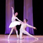 The graceful Wen Ting Guan from the Dutch National Ballet performed with the English National Ballet's Aaron Smyth.
