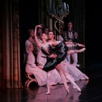 Irina Kolesnikova and Dmitri Akulinin in the grand ballroom in Swan Lake.