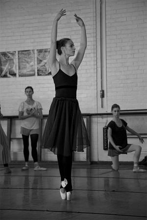 Angela Hansford during rehearsals.