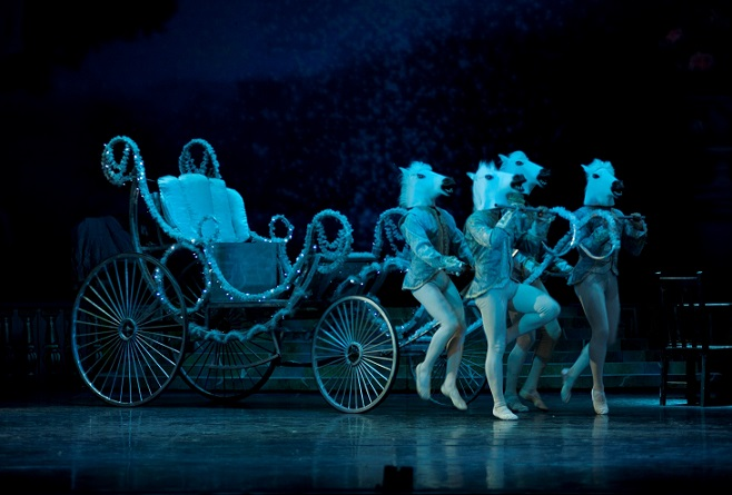 Cinderella's magical carriage and comical horses