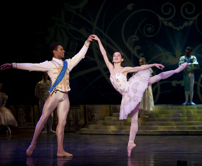 Burnise Silvius and Jonathan Rodrigues in the final Cinderella wedding scene