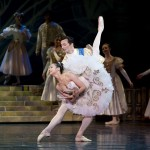 Michael Revie catches Jin Ho Won in one of many throws, catches and lifts in Cinderella's final wedding pas de deux.