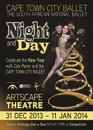 Night & Day poster by Cape Town City Ballet