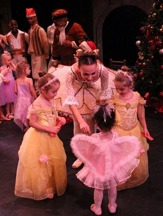 Little fairies and ballerinas join the big ballerinas on stage for a special Fairy Parade at Artscape.