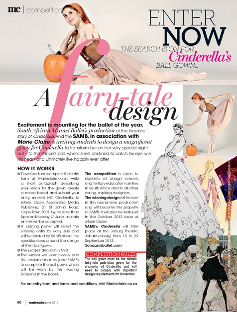 Marie Claire and Joburg Ballet's fashion design competition