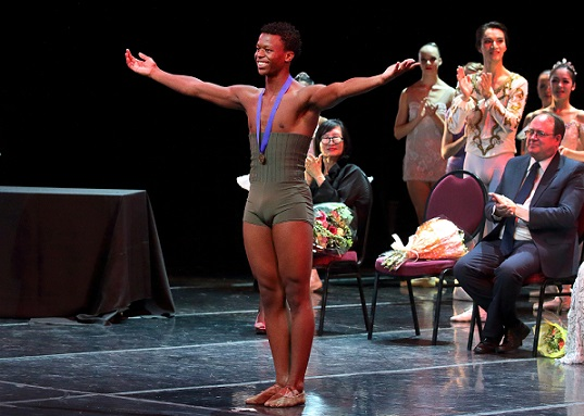 South African Mthuthuzeli November was a big winner of the night with a gold medal and a scholarship to the Ailey School in New York City.