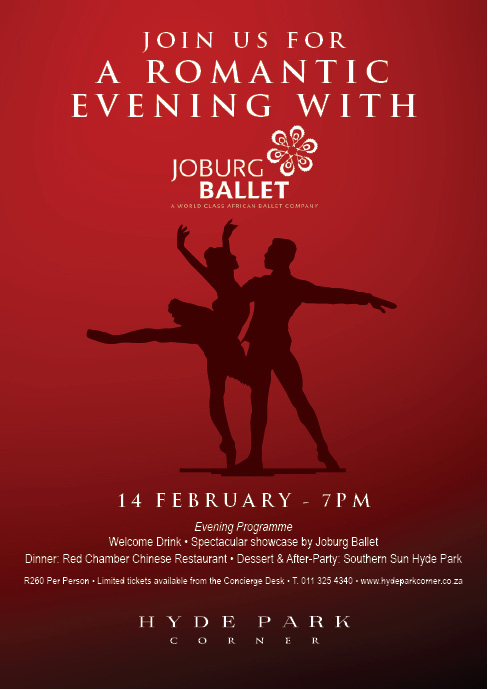 Special Valentine's performance by Joburg Ballet at Hyde Park Corner shopping centre on 14 February 2014.