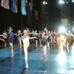 Getting a feel for the stage with the first ballet class on day 1. Photo by Robynn Burls