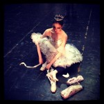 South Korean ballerina preparing backstage. Photo by Allison Foat