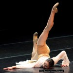 "Geng QingQing (aged 18) from China performed her contemporary piece entitled ""Offering Dance"" during the finals of the 2014 South African International Ballet Competition."
