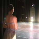 South African dancer, Megan Gerber (age 15), prepares to enter onto stage on the first night of the ballet competition. Photo by Robynn Burls