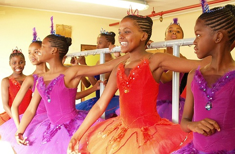 Tutu wonderful! Kids from the Zama Dance School from Gugulethu take part in the fun at CTCB's Open Day. Photo by Andrew Warth.