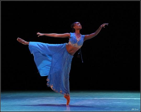 Kitty Phetla rehearsing Nikiya's Lament at Montecasino ahead of the Stars of American Ballet galas. Photo by Bill Zurich