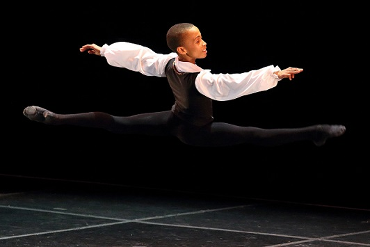 Young South African star-in-the-making, Leroy Mokgatle, gets invited to perform in Stars of American Ballet at Montecasino. Photo by Pat Bromilow-Downing.