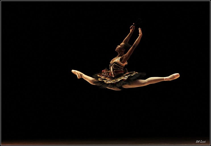 Michaela DePrince during rehearsals for Stars of American Ballet. Photo by Bill Zurich